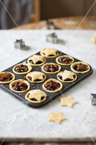 Christmas mince pies being made