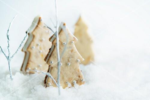 Christmas tree-shaped ice cream sandwiches