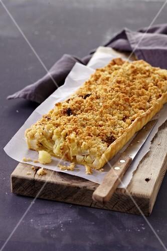 Vegetable crumble pie