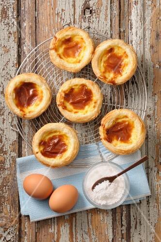 Pasteis de nata (custard tarts, Portugal)