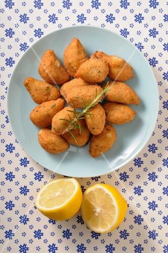 Acras de morue (deep-fried cod bites, France)