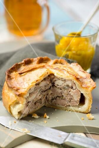 Pork pie with piccalilli