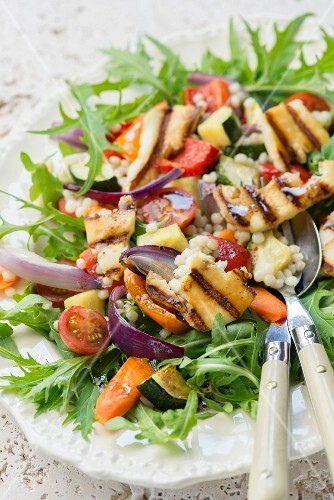 Roasted vegetable salad with millet