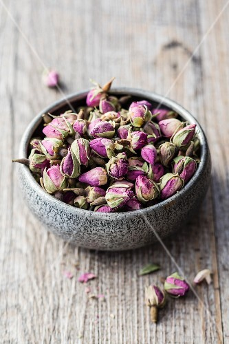 A bowl of dried roses from Morocco
