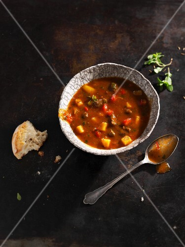 Goulash soup with bread