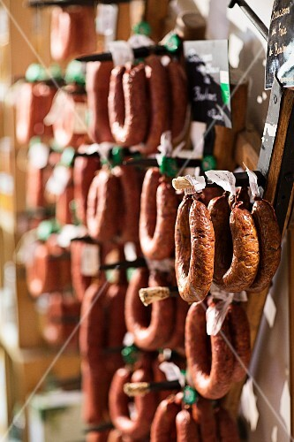Regional sausages, Lake Geneva, Switzerland