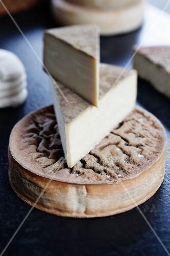 Regional hard cheese from Lake Geneva, Switzerland