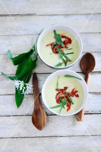 Cream of wild garlic soup