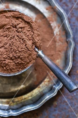 A bowl of cocoa powder