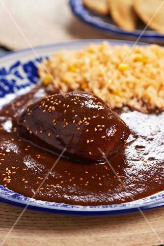 Chicken with mole (Mexico)