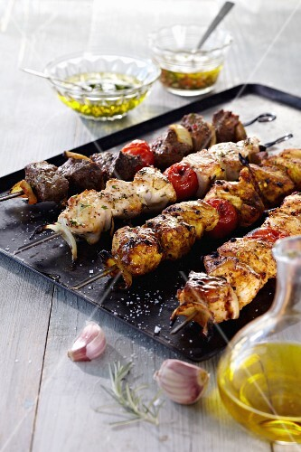 Various grilled kebabs