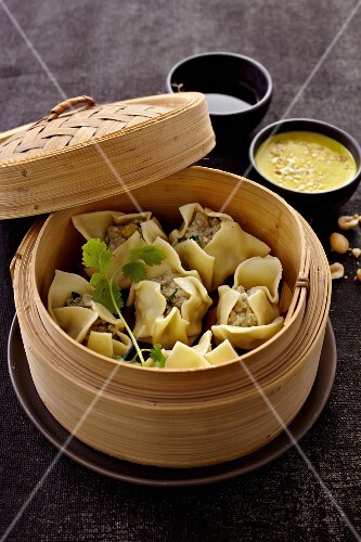 Steamed pork ravioli (China)