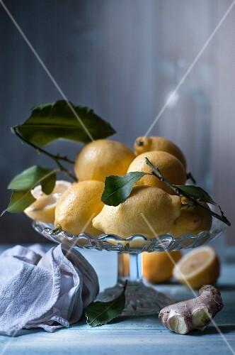 Lemons and fresh ginger