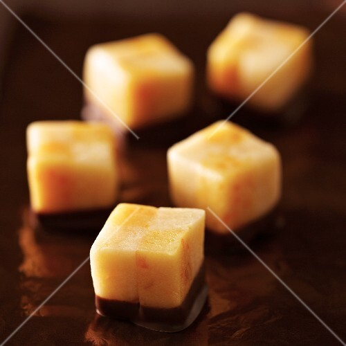 Orange marzipan sweets