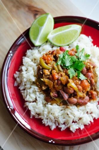 Chili con carne on rice