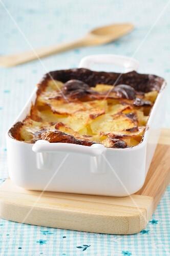 Potato Gratin in Baking Dish