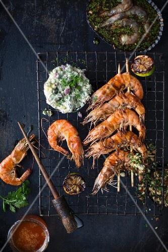Grilled prawns with Tartare sauce