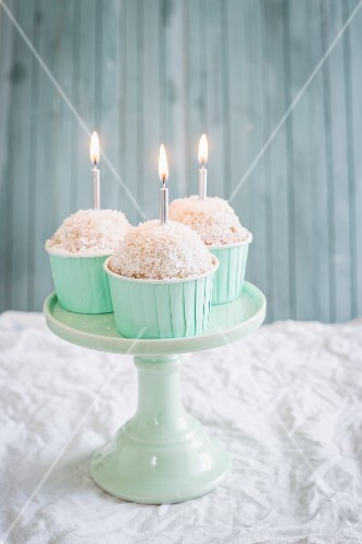 Coconut cupcakes for a birthday