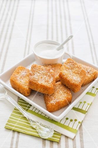 Crema Fritta alla Veneziana (Carnival pastries, Italy)
