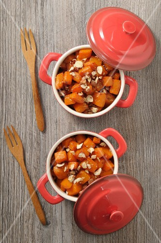 Butternut squash bake with hazelnuts