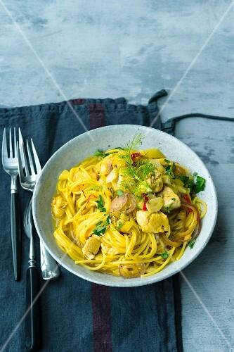 Fennel & saffron pasta with chicken