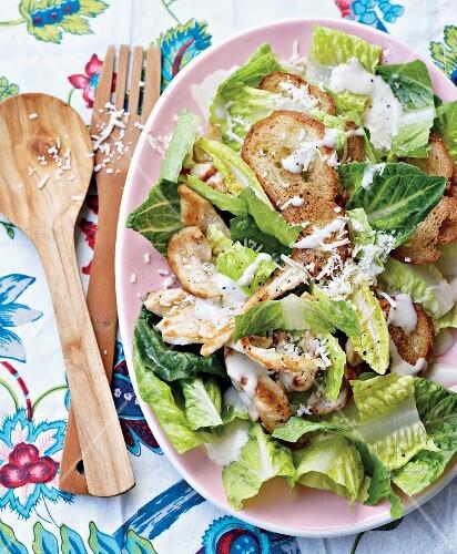 Hähnchen-Cäsarsalat