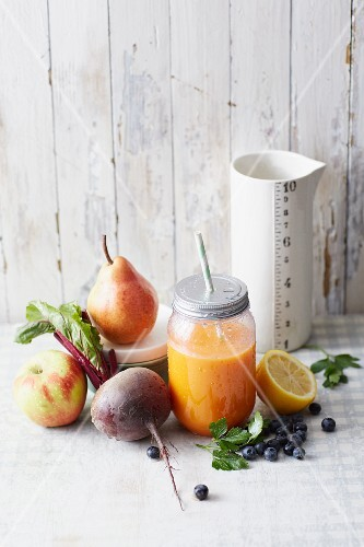 A fruit and vegetable smoothie