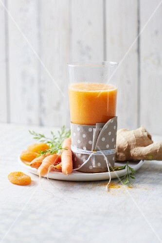 A hot Indian smoothie made from carrots, apricots and ginger