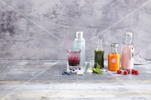 Colourful super smoothies