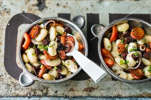Bean and chorizo salad (Spain)