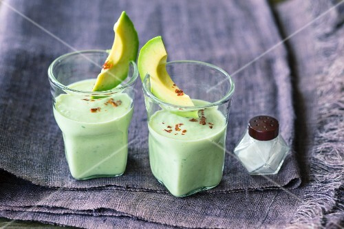 Avocado and cucumber drinks