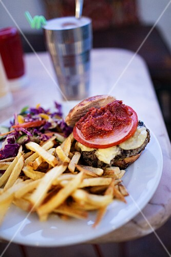 Café Clock: camel burger, Marrakesh, Morocco