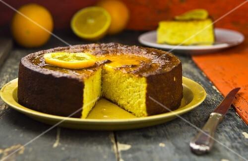 Wheat semolina and orange cake