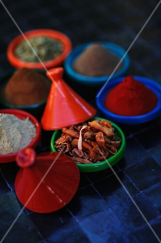 Various spices, Marrakesh, Morocco