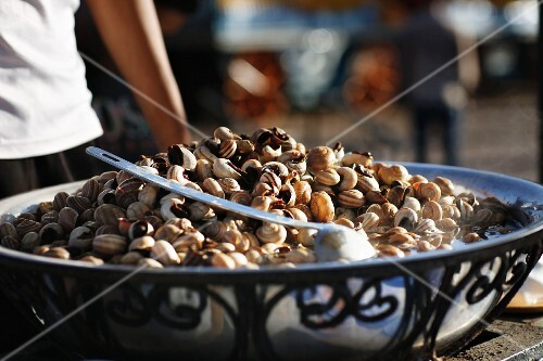 Snails being cooked, Marrakesh, Morocco