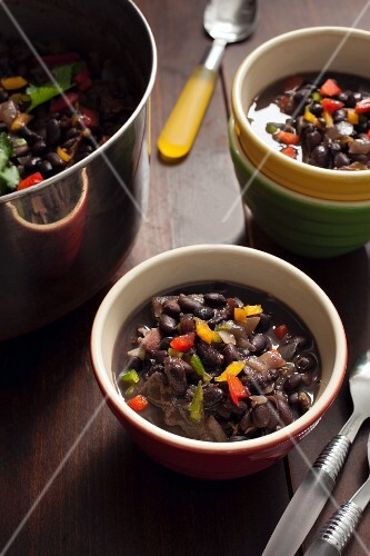 Black bean stew with chipotle (Cuba)