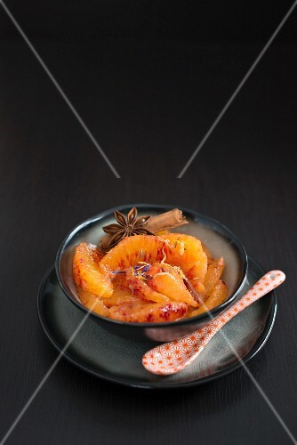 Blood orange salad with cinnamon and star anise