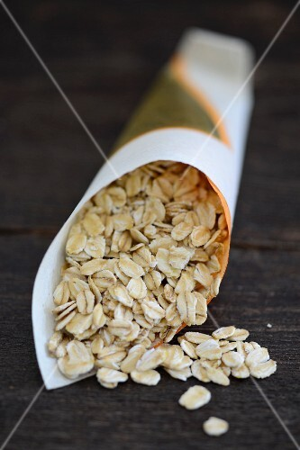 Oats in a paper bag