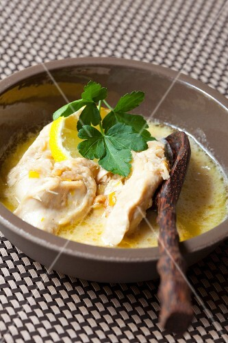 Chicken breast in a lemon and coconut sauce