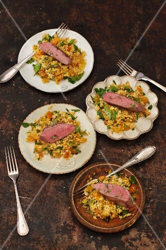 Couscous salad with lamb and chermoula