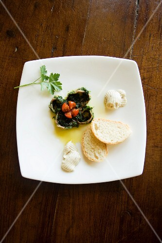 Acciughe sotto pesto (anchovies with pesto, Italy)