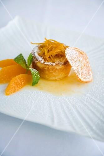 Tortino con crema die arancia (orange cream tartlet, Italy)