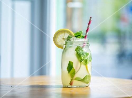 Homemade lemonade in a restaurant