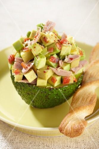 Avocado stuffed with tuna