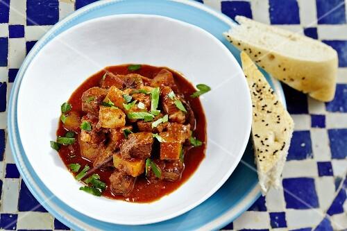 Kamuniya (Tunisian cumin stew)