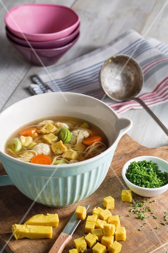 Vegan soup garnishes