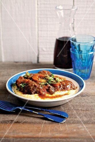 Osso bucco with polenta and gremolata