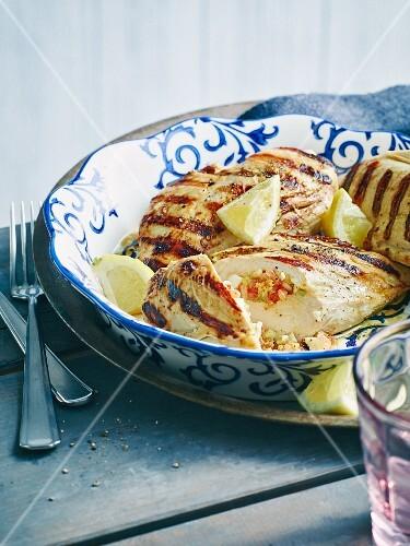 Grilled gazpacho-marinated chicken breast