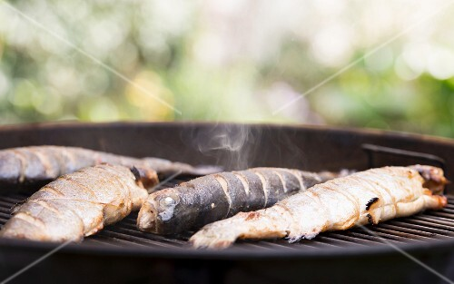 Trout on a barbecue