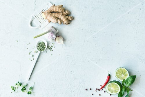 Herbs and spices for vegetarian cuisine